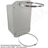 Pole Mount / Flange Mount Kit for Altelix NF141206, NF141208, NS161208, NS161208 & NFC161212 Series NEMA Enclosures