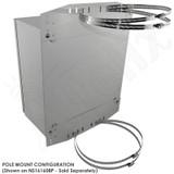 Pole Mount / Flange Mount Kit for Altelix NFC161608, NFC201608, NFC241609, NS161608, NS201608, NS201612, NS241610 & NS241612 Series NEMA Enclosures