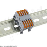 5-Conductor DIN Rail Mount Quick Splicing Connector