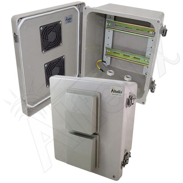 Altelix 10x8x6 Vented Industrial DIN Rail Fiberglass Enclosure