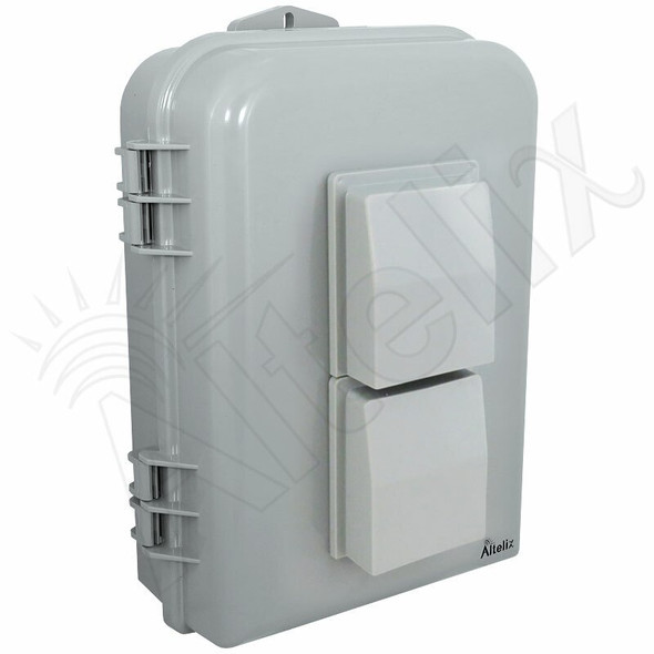 Altelix 15x10x5 Inch PC+ABS Polycarbonate / ABS Vented Weatherproof NEMA Enclosure with Aluminum Mounting Plate