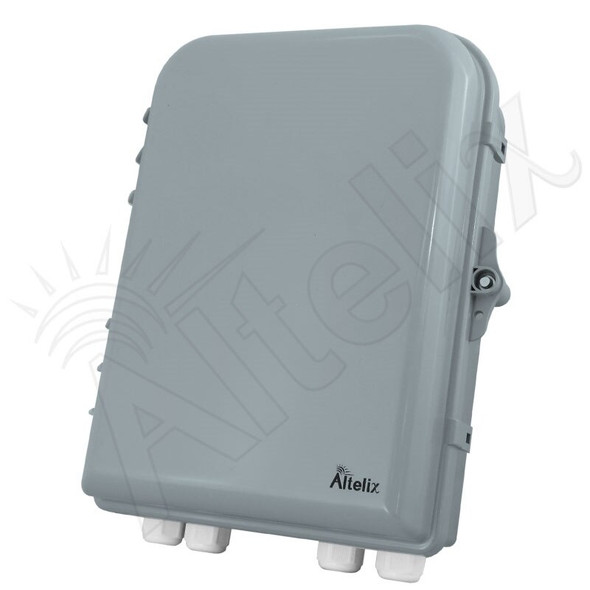 Altelix 13x10x4 IP66 NEMA 4X PC+ABS Plastic Weatherproof Utility Box with Hinged Door with Aluminum Mounting Plate