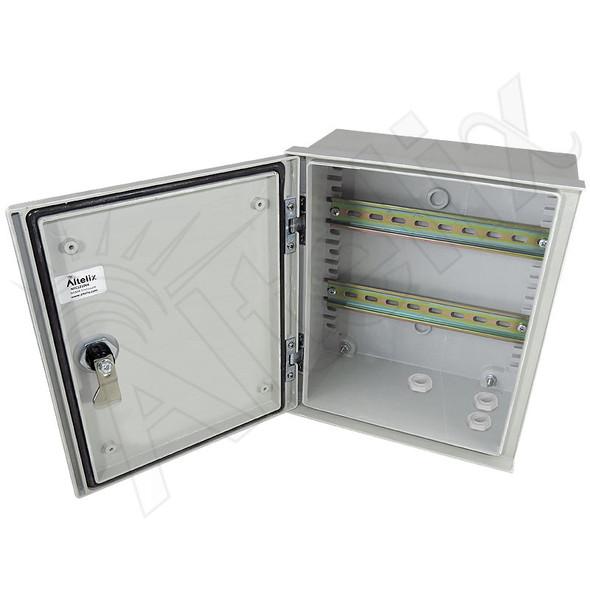 Altelix 12x10x6 Industrial DIN Rail Enclosure Fiberglass NEMA 3X IP65