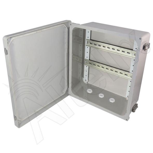 Altelix 14x12x6 Industrial DIN Rail Enclosure Fiberglass NEMA 4X IP66