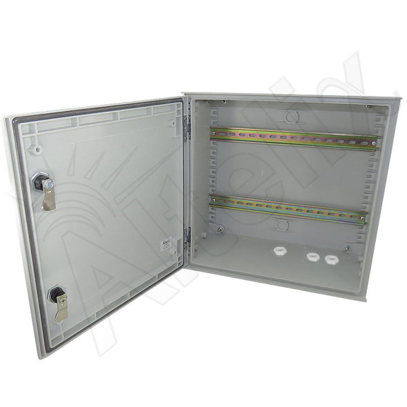 Altelix Industrial DIN Rail Enclosure 16x16x8 Fiberglass Weatherproof NEMA 3X IP65