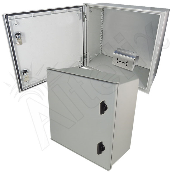 Altelix 16x16x8 Fiberglass Weatherproof NEMA Enclosure with 100-240 VAC Universal Power Outlet
