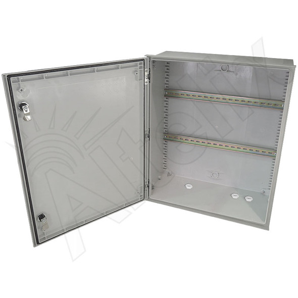 Altelix Industrial DIN Rail Enclosure 24x20x9 Fiberglass Weatherproof NEMA 3X IP65