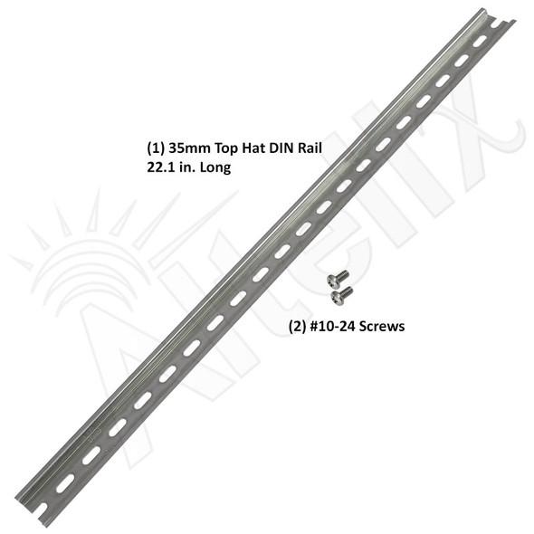 35mm Top Hat DIN Rail Kit for NS242412-DIN & NS242416-DIN Enclosures