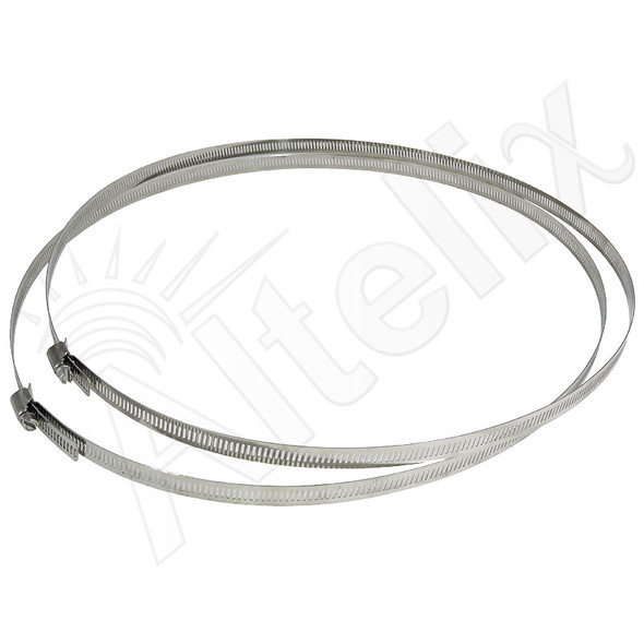 Adjustable Stainless Steel Mounting Bands for Pole Diameter up to 13 Inches