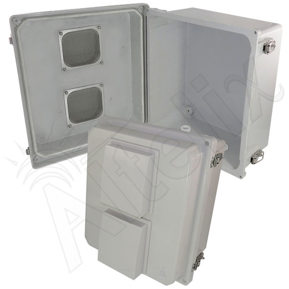 Altelix 14x12x8 Inch Vented Fiberglass Weatherproof NEMA Enclosure