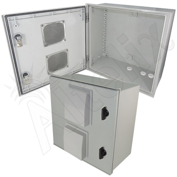Altelix 16x16x8 Fiberglass FRP Vented Weatherproof Equipment NEMA Enclosure