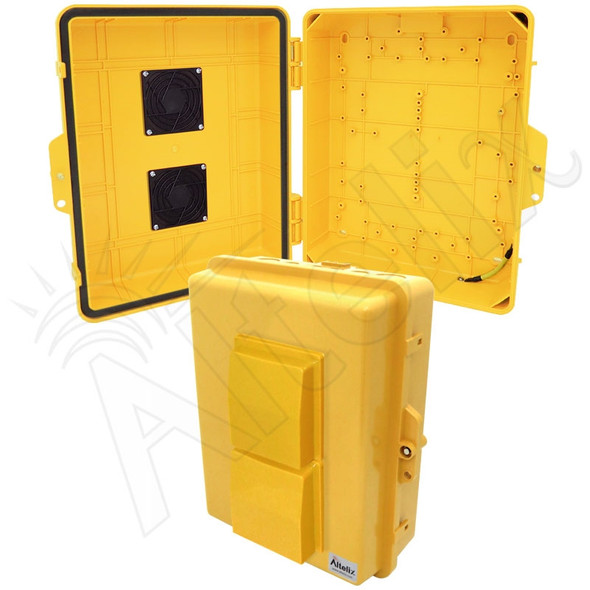 Altelix 14x11x5 Yellow Vented Polycarbonate + ABS Weatherproof NEMA Enclosure