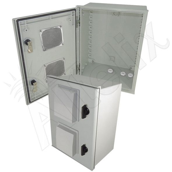 Altelix 16x12x8 Fiberglass FRP Vented Weatherproof Equipment NEMA Enclosure