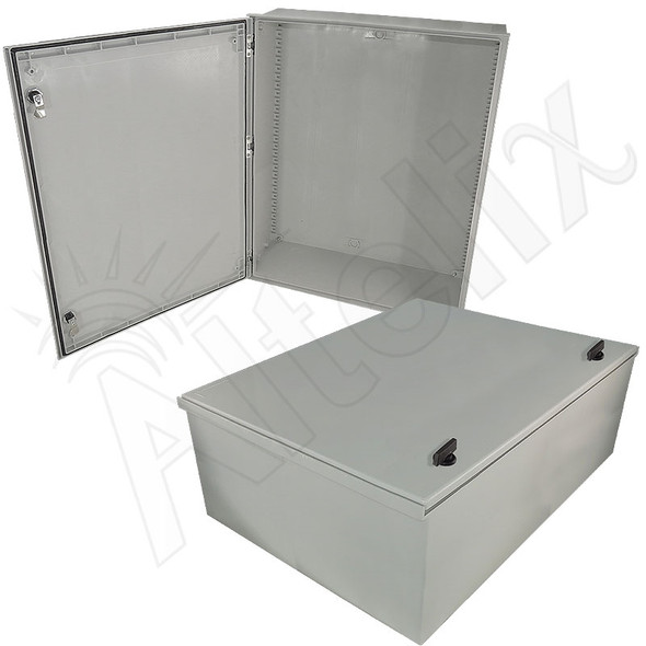 Altelix 32x24x12 Fiberglass Reinforced Polyester FRP NEMA 3x / IP65 Weatherproof Equipment Enclosure
