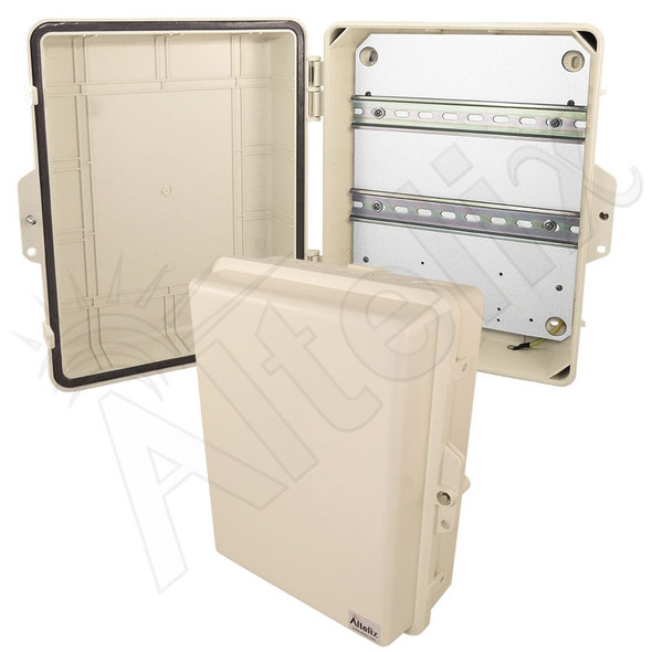 Altelix 14x11x5 Light Ivory DIN Rail Polycarbonate + ABS Weatherproof NEMA Enclosure