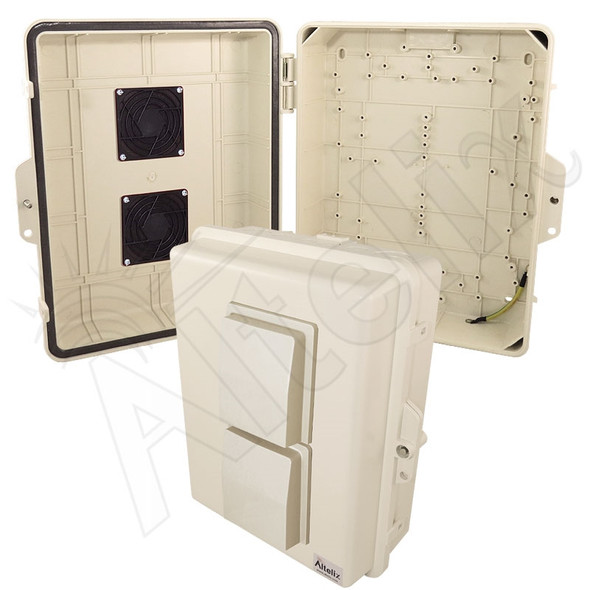Altelix 14x11x5 Light Ivory Vented Polycarbonate + ABS Weatherproof NEMA Enclosure