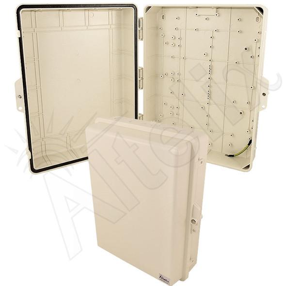 Altelix 17x14x6 IP55 NEMA 3R PC+ABS Light Ivory Plastic Weatherproof Utility Enclosure with Hinged Door