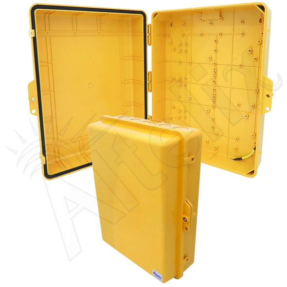Altelix 17x14x6 Inch Yellow Polycarbonate + ABS Weatherproof NEMA Enclosure