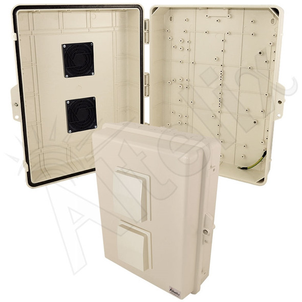 Altelix 17x14x6 Light Ivory Polycarbonate + ABS Vented Weatherproof NEMA Enclosure
