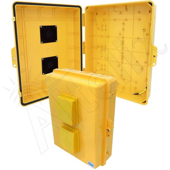 Altelix 17x14x6 Inch Yellow Polycarbonate + ABS Vented Weatherproof NEMA Enclosure