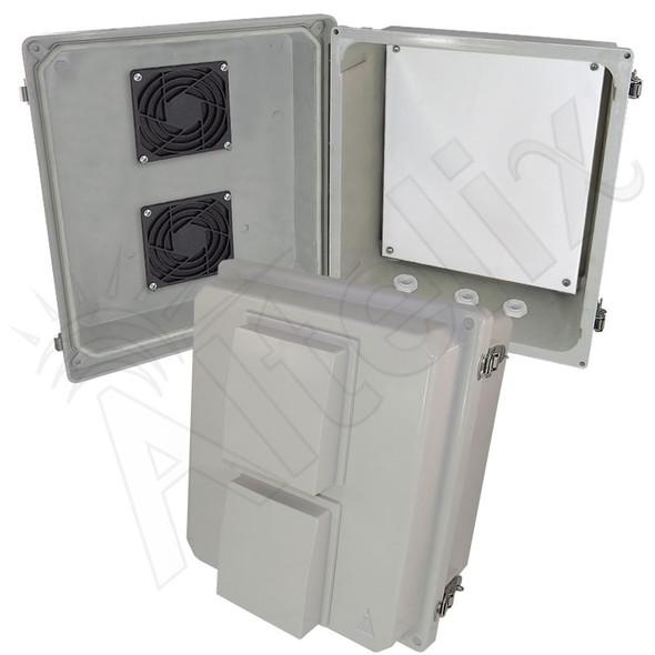 Altelix 14x12x8 Fiberglass Indoor / Outdoor RF Transparent WiFi Access Point NEMA Enclosure with Non-Metallic Equipment Mounting Plate