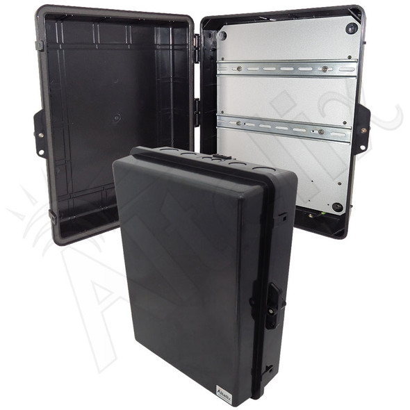 Altelix 17x14x6 Stealth Black DIN Rail Polycarbonate + ABS Weatherproof NEMA Enclosure