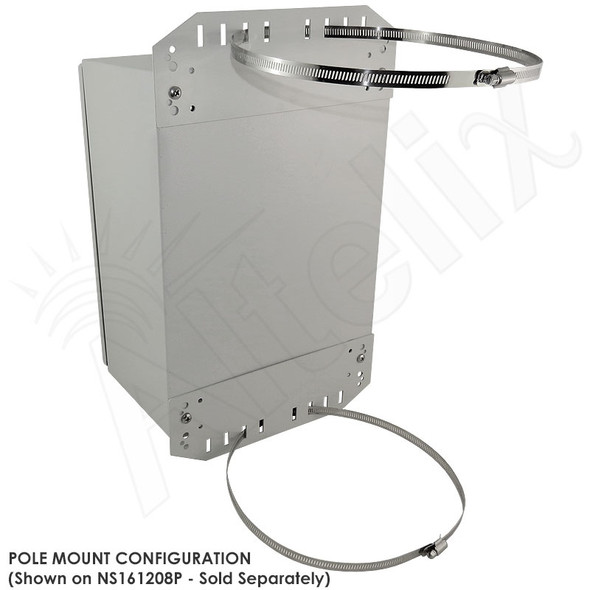 Pole Mount / Flange Mount Kit for Altelix NF141206, NF141208, NS161208, NS161208 & NFC161212 Series NEMA Enclosures
