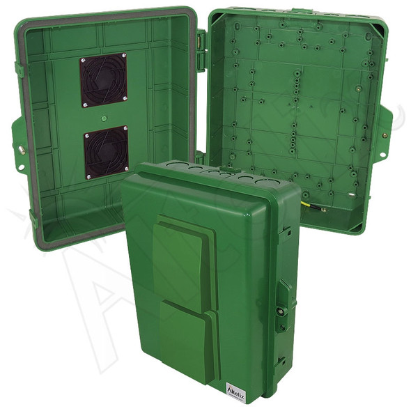 Altelix 14x11x5 Green Vented Polycarbonate + ABS Weatherproof NEMA Enclosure