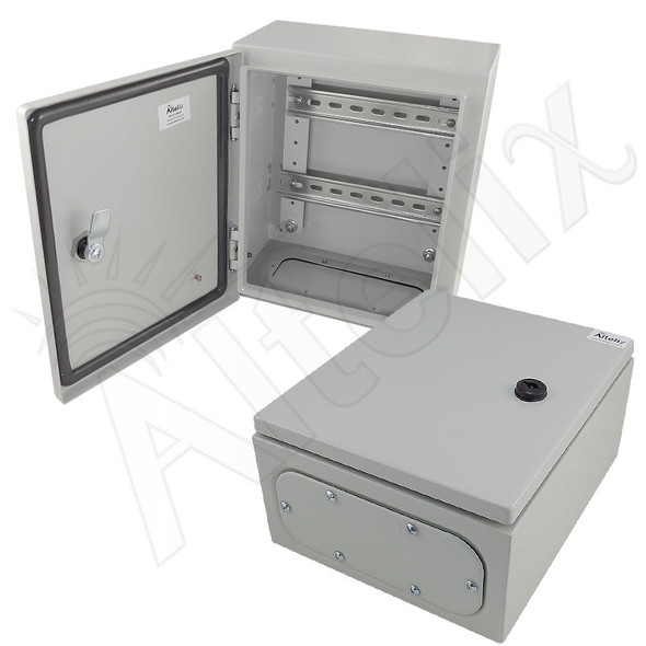 Altelix 12x10x6 Industrial DIN Rail NEMA 4X Steel Weatherproof Enclosure