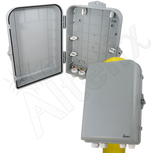 Altelix 15x10x5 Pole Mount Inch PC+ABS Polycarbonate / ABS Weatherproof NEMA Enclosure
