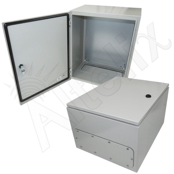 Altelix 20x16x12 NEMA 4X Steel Weatherproof Enclosure with Steel Equipment Mounting Plate