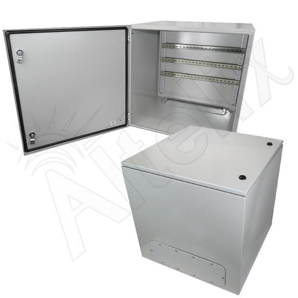 Altelix 24x24x24 Industrial DIN Rail NEMA 4X Steel Weatherproof Enclosure