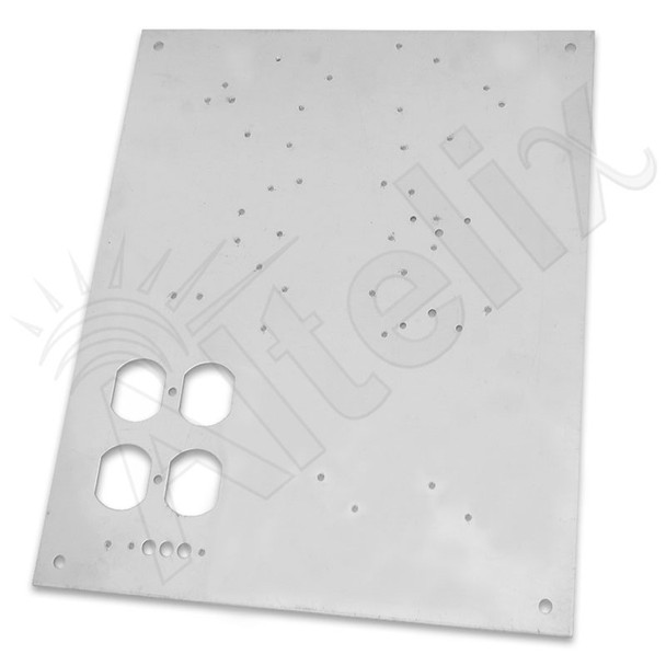 Aluminum Equipment Mounting Plate for NF141206 & NF141208 Series Enclosures