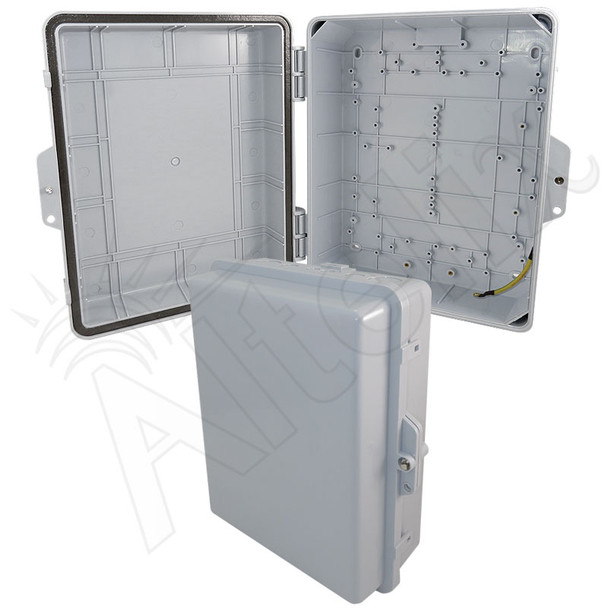 Altelix 14x11x5 IP55 NEMA 3R PC+ABS Plastic Weatherproof Utility Enclosure with Hinged Door