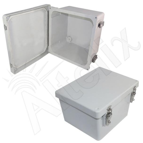 Altelix 10x8x6 Inch Fiberglass Weatherproof NEMA Enclosure