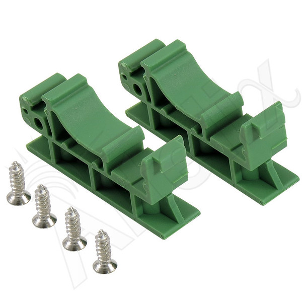 Plastic PC Board DIN Rail Mounting Clips for 35mm Top Hat DIN Rail and 32mm G-Rail