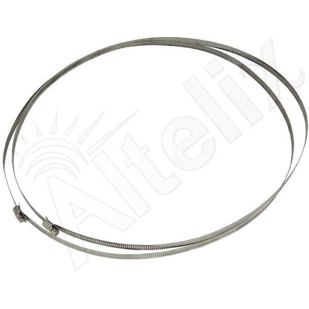 Adjustable Stainless Steel Mounting Bands for Pole Diameter up to 17.5 Inches