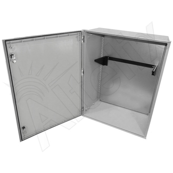 "Altelix 32x24x12 19"" Wide 4U Vertical Rack Fiberglass Weatherproof NEMA Enclosure"