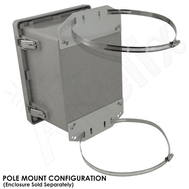 Pole Mount / Flange Mount Kit for Altelix NF100806, NS080806 & NS100806 Series NEMA Enclosures