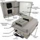 Altelix 14x12x8 Fiberglass Weatherproof Vented WiFi NEMA Enclosure with Cooling Fan, 120 VAC Outlets & Power Cord