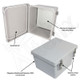 Altelix 10x8x6 Inch Fiberglass Weatherproof NEMA 4X Enclosure with Aluminum Equipment Mounting Plate