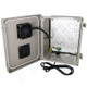 Altelix 10x8x6 Vented Fan Cooled Fiberglass Weatherproof NEMA Enclosure with 120VAC Outlets and Power Cord