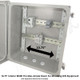 Altelix 14x12x8 Industrial DIN Rail Enclosure Fiberglass NEMA 4X IP66