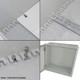 Altelix 16x12x8 Industrial DIN Rail Enclosure Fiberglass NEMA 3X IP65