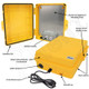 Altelix 14x11x5 Yellow Polycarbonate + ABS Weatherproof NEMA Enclosure with Aluminum Mounting Plate, 120 VAC Outlets and Power Cord