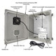Altelix 14x12x8 Fiberglass Vwnted Weatherproof NEMA Enclosure with Aluminum Mounting Plate and 120 VAC Outlets