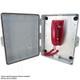 Altelix Pole Mount Outdoor Weatherproof Emergency Phone Call Box, 17x14x6 with Emergency Phone Label