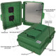 Altelix 14x11x5 Green Vented Polycarbonate + ABS Weatherproof NEMA Enclosure with Aluminum Equipment Mounting Plate