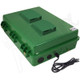 Altelix 17x14x6 Green Polycarbonate + ABS Vented Weatherproof NEMA Enclosure with Aluminum Mounting Plate, 120 VAC Outlets & Power Cord