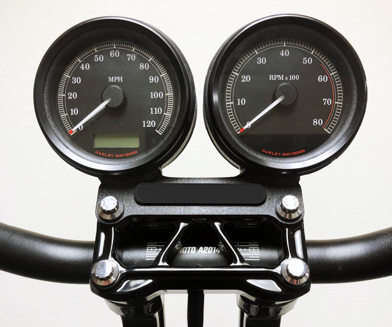 Gauge Bracket Indicator Block-off Plate -Gloss Black